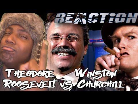 Theodore Roosevelt vs Winston Churchill. Epic Rap Battles of History REACTION!