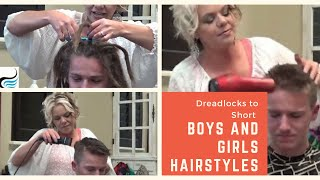 Dreadlock Removal - (How to Cut Dreadlocks) Short Hairstyles for men