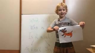 Урок 7. What is it? Английский для детей. Учим английский язык с Глебом :)