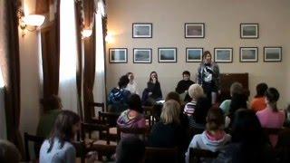 наше с Холмановой мероприятие от 4 апреля 2011 года, посвящённое дню поэзии. Сопутствующие: Борисовна с песня...