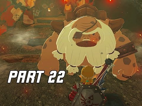 Legend of Zelda Breath of the Wild Walkthrough Part 22 - GORON CITY (Let's Play)