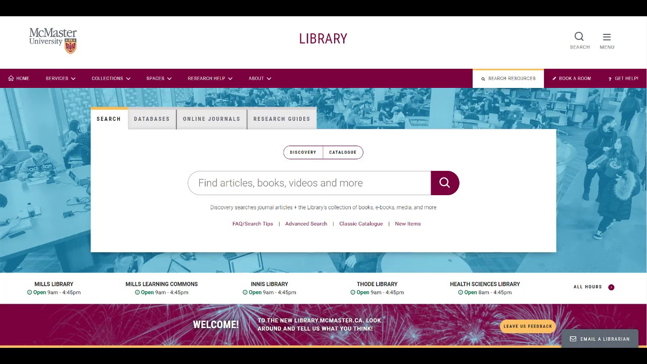 Course Reserves - A Guide to Books - McMaster LibGuides at