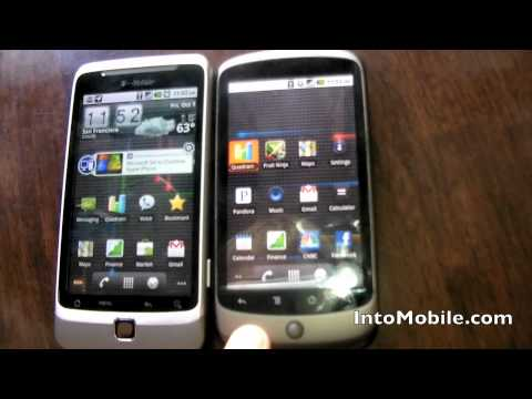T Mobile G2 HTC Desire Z vs Google HTC Nexus One