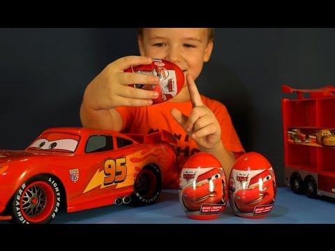 Киндер Сюрприз Тачки на русском языке. Игрушки Тачки. Тачки Маквин. Kinder Surprise Toys Cars