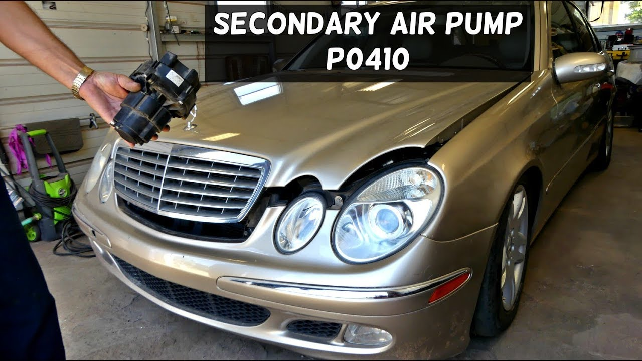 How To Remove And Replace The Secondary Air Pump On Mercedes W211 C180 Mopar Fuse Relay Box P0410 Code Fix