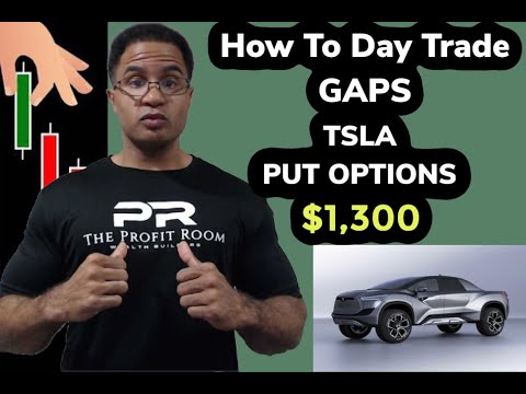 How to Day Trading Gaps Tesla  TSLA  Stock Options for Profits