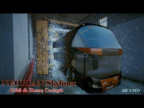 Tourist Bus Simulator #Neoplan Skyliner # Arac yikama-  4K UHD |