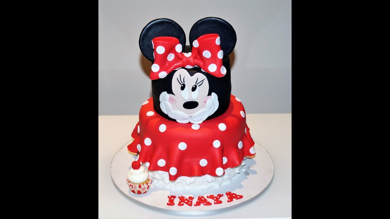 Cake Decorating Tutorials How To Make A Minnie Mouse Cake