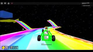 Wii Rainbow Road with Bowser statue - Roblox