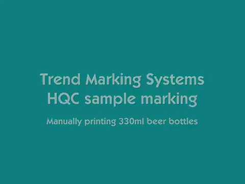 SRI LANKA - Hot Quick Coder branding on glass bottles (CONTROL PRINT)