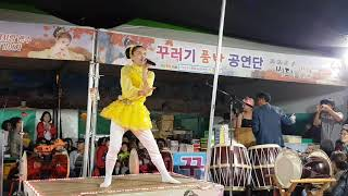 💗버드리💗 9월22일 본무대공연으로 모였던 관중이 이동하여관객대박속 야간공연시작 대전아줌마축제