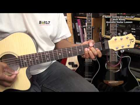 NEVER GONNA GIVE YOU UP Rick Astley Guitar Lesson