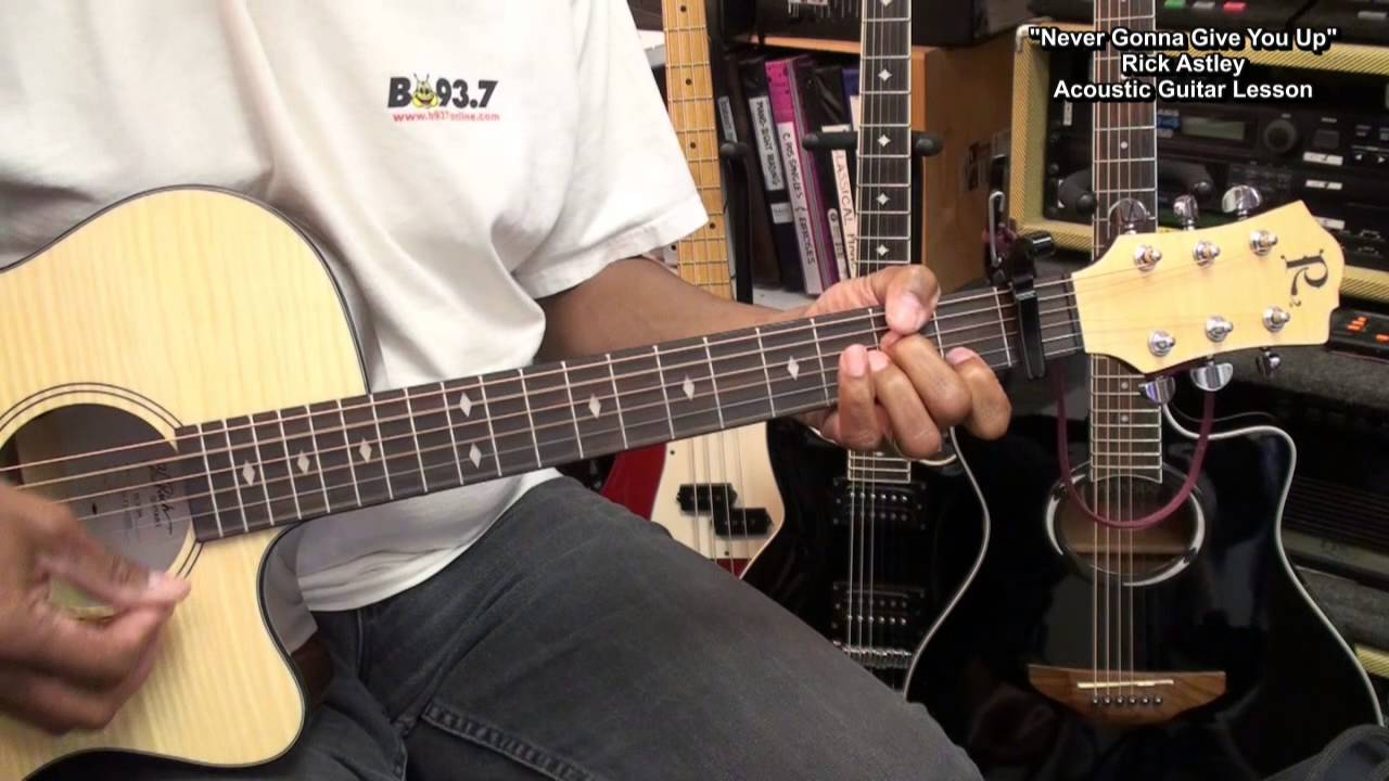 How To Play NEVER GONNA GIVE YOU UP Rick Astley 3 Chords ... - photo #44