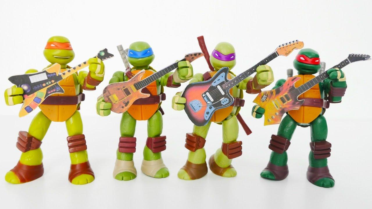 Ninja Kaplumbağalar çizgi Filmi Barbie Için Gitar Dersi Youtube