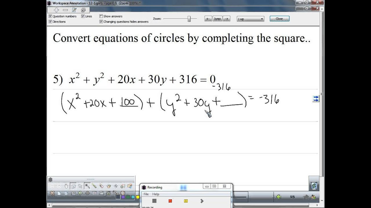 Convert the general equation of a circle to standard form by convert the general equation of a circle to standard form by completing the square 3 falaconquin