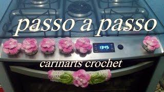 capinha para botão do fogão em crochê by Carina Dias