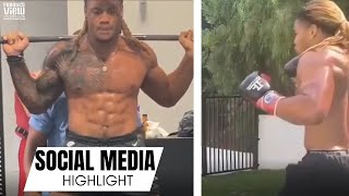 Chase Young LOOKS SHREDDED During Off-Season Training, Smashes Boxing Mitts & Squats