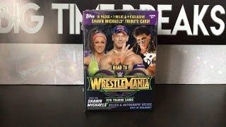 Topps WWE Road to WrestleMania 2018 Blaster Box Break + WrestleMania 34 Build/Trip!!!