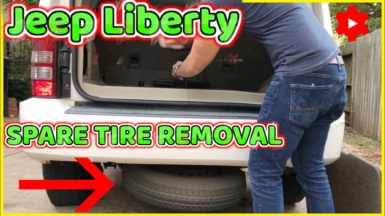 Jeep Liberty Spare Tire Removal 2008 2012 Youtube