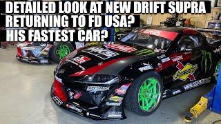 2 x A90 drift Supra!  Daigo's Fat Five Racing shop tour!!!
