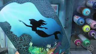 "Amazing Graffiti of ""The Little Mermaid"" + More Disney by Skech ART"