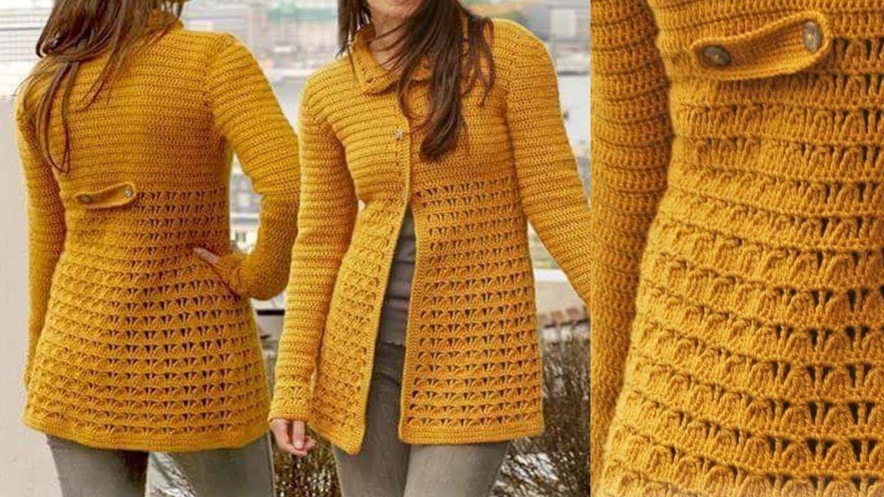 Abrigos para damas tejidos a palillos