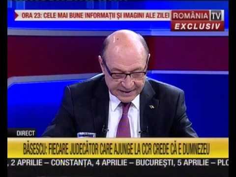 Ediţia de seară, invitat Preşedintele Traian Băsescu. Moderator, Victor Ciutacu