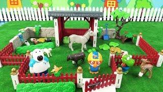 뽀로로 플레이모빌 동물농장 체험! 먹보 크롱 조심 ❤ 뽀로로 장난감 애니 ❤ Pororo Toy Video