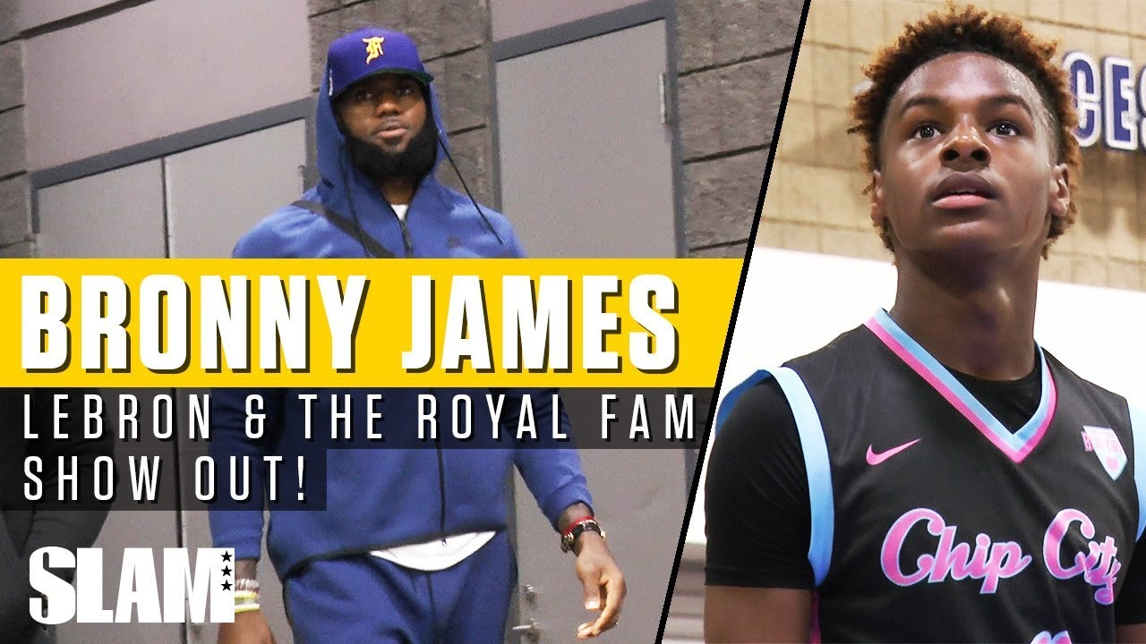 2ad2a1a96 LeBron James   Royal Family Showed Out in Queen City for Bronny! 👑