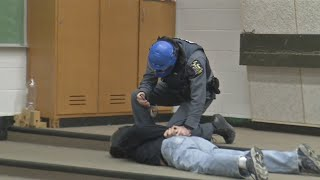 Buffalo State University police stage active shooter response drill