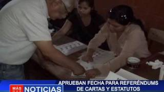 Aprueban fechas para referéndums de cartas y estatutos