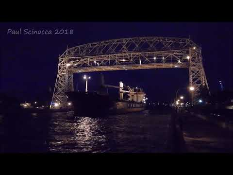 A Night Departure Of The Isa.  Departing Before The Weather Hits Duluth