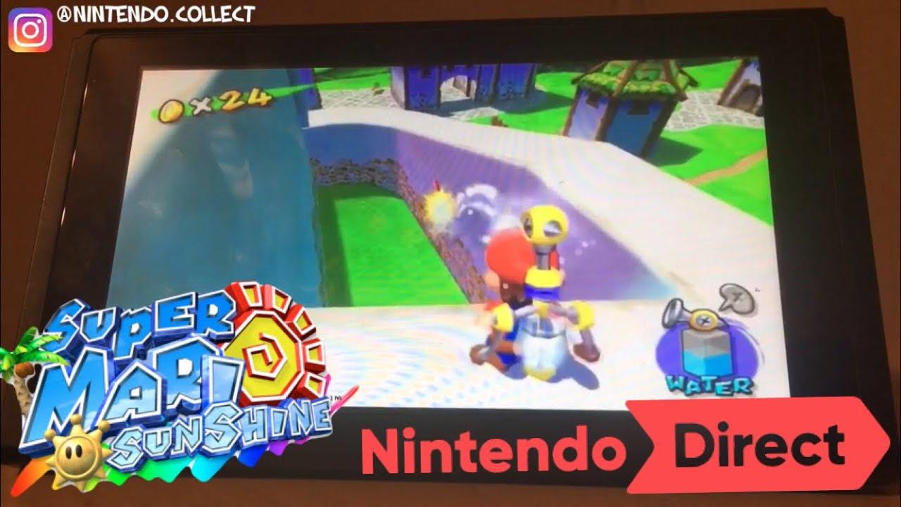 Super Mario Sunshine on Nintendo Switch!