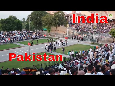 Indian BSF Vs Pakistan Rangers Wagah Border Parade Daily Since 1959