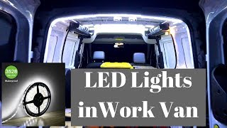 How to Add LED Strip Lights to Work Van