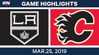 NHL Game Highlights | Kings vs. Flames – March 25, 2019