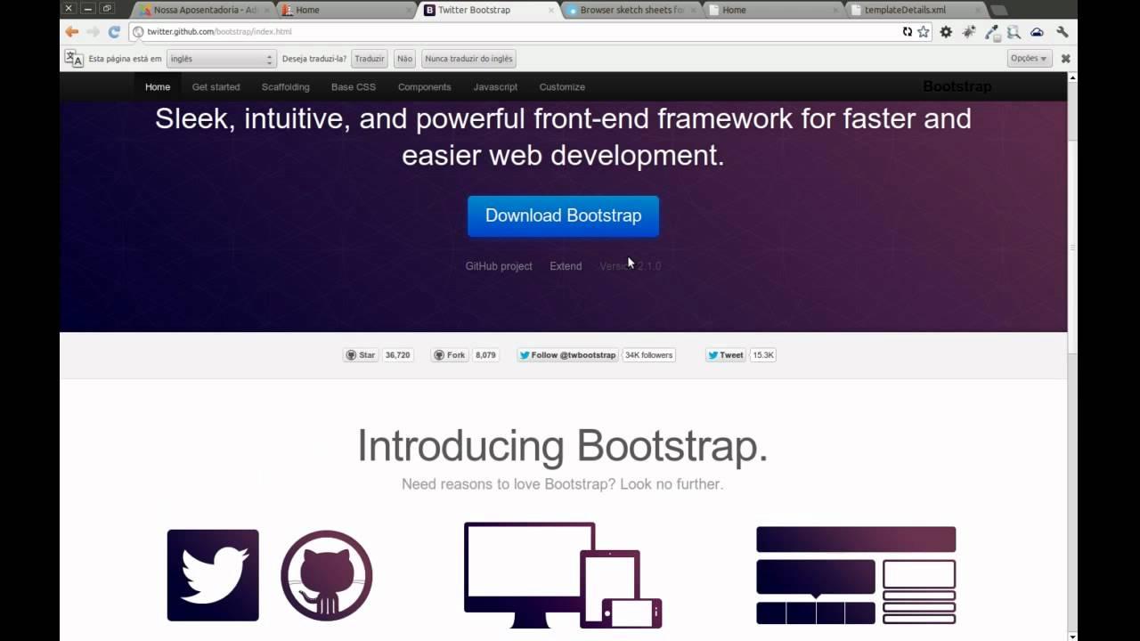 Templates com Gantry BootStrap Joomla Wordpress - YouTube