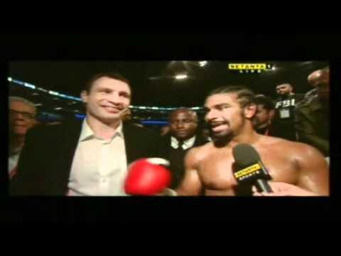 David Haye & Vitali Klitschko Interviewed Together