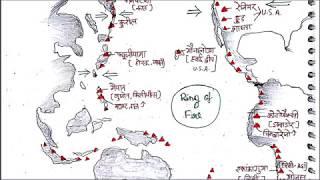ज्वालामुखी का विश्व वितरण, GLOBAL DISTRIBUTION OF VOLCANO LESSON 41