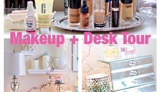 My Makeup Vanity + Desk Tour