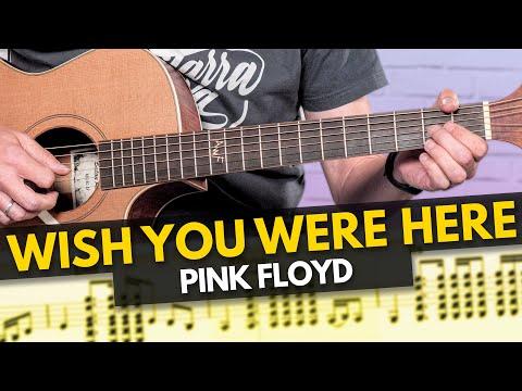 WISH YOU WERE HERE de PINK FLOYD - tutorial TABS guitarra cover