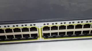 Cisco 3750 PoE 48-Port Switch WS-C3750-48PS-S TEST
