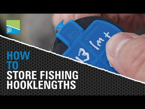 TACKLE ROOM TIPS - HOW TO store fishing hooklengths