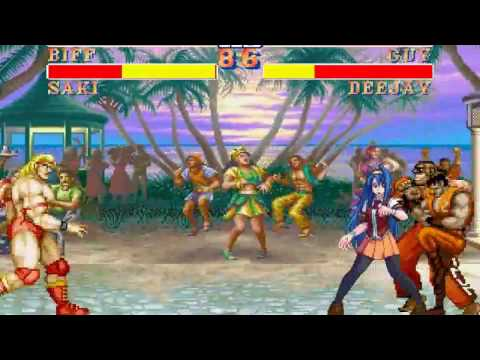 Street Fighter II Deluxe: Biff + Saki 2v2 Team Arcade
