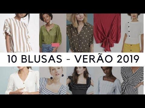 85b12a22c 10 BLUSAS TENDÊNCIA DO VERÃO 2019-MARCIA GABRIEL - YouTube