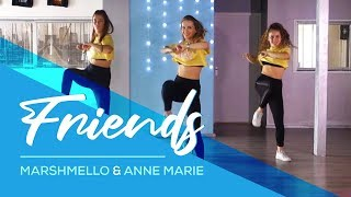 Friends - Marshmello & Anne Marie (Hbz Bounce Remix) Combat Fitness Dance Choreography - Baile