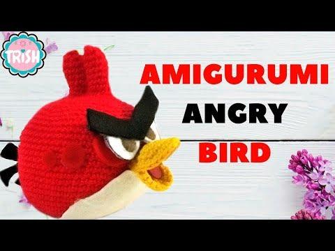 Angry Birds Rojo (amigurumi) a crochet. Patrón gratis en nuestro ... | 360x480