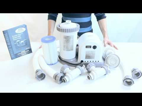 Intex 56635e Easy Set 635t Pool Filter Pump Youtube
