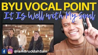 BYU VOCAL POINT singing, It Is Well With My Soul | Drive Thru REACTION vids with Bruddah Sam