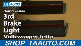 How To Install Replace 3rd Brake Light 2005-10 Volkswagen Jetta